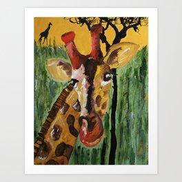Sunny Safari - Panel 1 Art Print