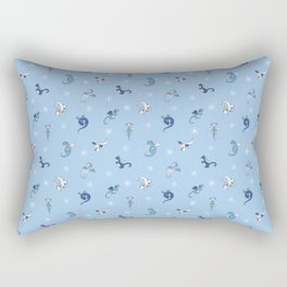 Winter Dragon Babies Rectangular Pillow