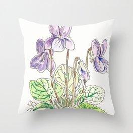 Viola Odorata Throw Pillow