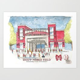 Dudy-Noble Field 2018 Art Print