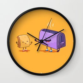Best friends (Bread and toaster. Character set.) Wall Clock