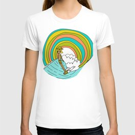 groovy vibes hang 10 by surfy birdy T-shirt
