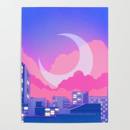 Dreamy Moon Nights Poster