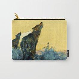"""Howling Wolf Sagebrush"" by W Herbert Dunton Carry-All Pouch"