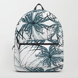 Mandala blue and black Backpack