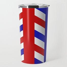 Striped Red Blue Pattern Travel Mug