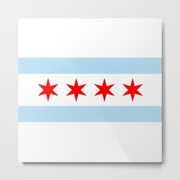 Chicago Flag Metal Print