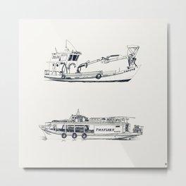 On paper: Capote y Picaflor Metal Print