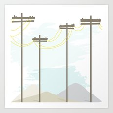 Power in the mountains Art Print
