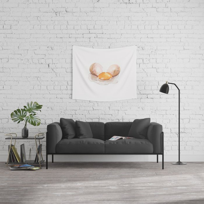 Color pencil Egg Wall Tapestry