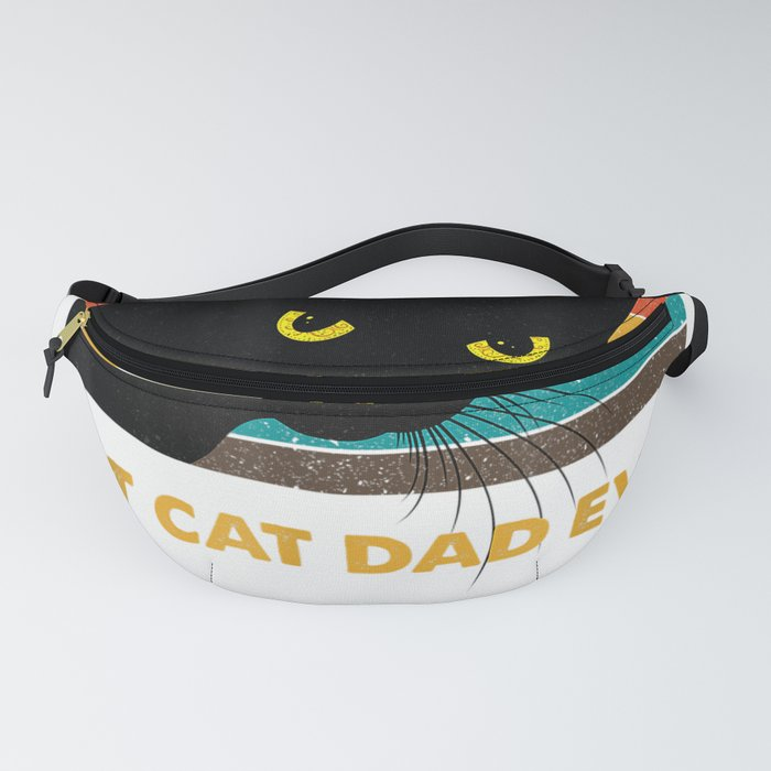 Best Cat Dad Ever Vintage Mens T-Shirt Black Cat Daddy Tee Fanny Pack