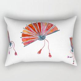 Red oriental fans Rectangular Pillow