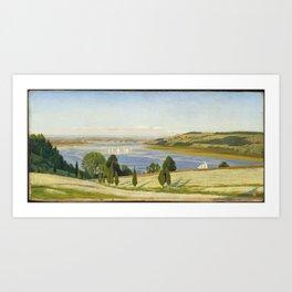 A Buckwheat Field on Thomas Coles Farm 1863, Thomas Charles Farrer Art Print