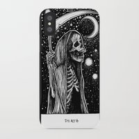 tarot iPhone & iPod Cases featuring Death Tarot by Corinne Elyse