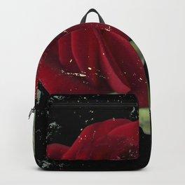 Grunge red rose Backpack