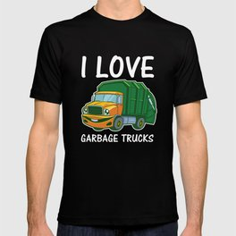 I Love Garbage Rubbish Trash Trucks Climate Earth Day Kids Eco Gift T-shirt
