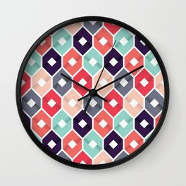 Art colour colored color wall case cover skin shirt grid new love hot trend 2018 pattern texture fun Wall Clock