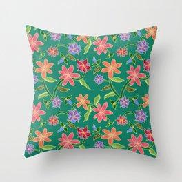 Emerald Batik Throw Pillow