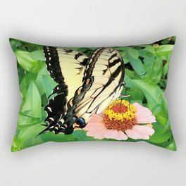 Butterfly on Zinnia 4 Rectangular Pillow