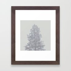 Blurry Pine Tree from a Mountain Town Framed Art Print