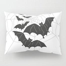 Black Bats with Spider Web Halloween Pillow Sham