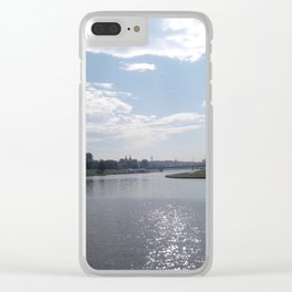 Vistula River, Kraków, Poland Clear iPhone Case