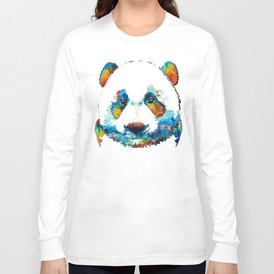 Colorful Panda Bear Art By Sharon Cummings Long Sleeve T-shirt