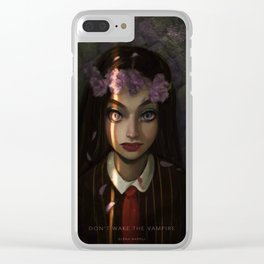 Don't Wake Up the Vampire Clear iPhone Case