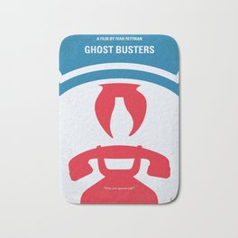 No104 My Ghostbusters minimal movie poster Bath Mat