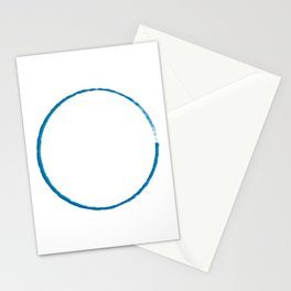 Painted Blue Roundabout  Stationery Cards