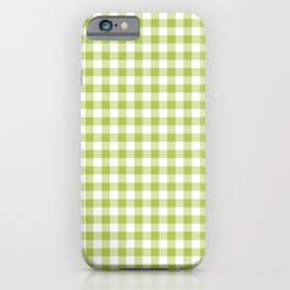Lime Green Gingham iPhone Case