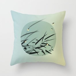 Decaying Grass Becomes Fireflies Throw Pillow