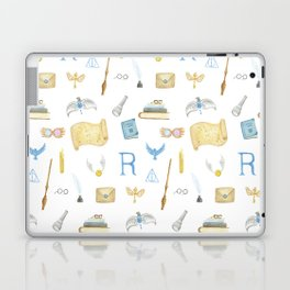 Watercolor Ravenclaw Pattern Laptop & iPad Skin