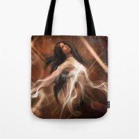 women Tote Bags featuring Women by Susann Mielke