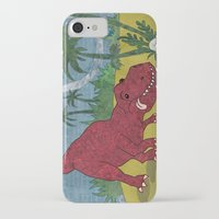 trex iPhone & iPod Cases featuring Trex-tra Cuddly by lindsey salles