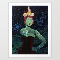 marina and the diamonds Art Prints featuring Marina by Gina Angelina Tolentino