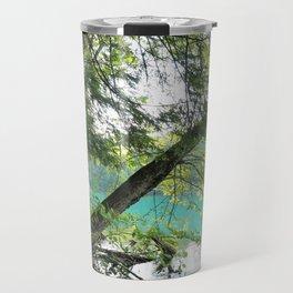 Aqua Blue Lake and Trees Travel Mug