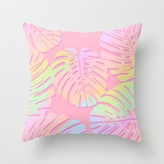 Unicorn Monstera Throw Pillow