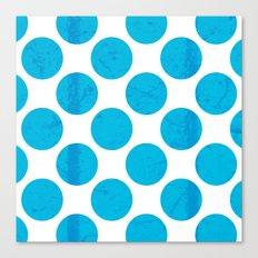 Blue Polka Dot Canvas Print