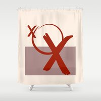 xoxo Shower Curtains featuring XOXO by clemm