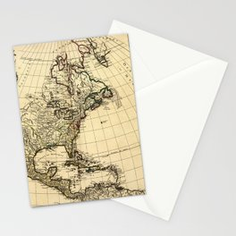 Amérique Septentrionale, Map of North America (1758) Stationery Cards