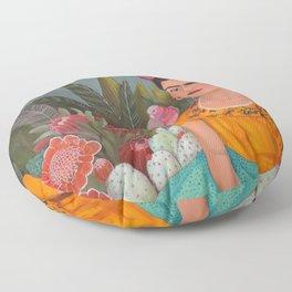 Frida a la casa azul Floor Pillow