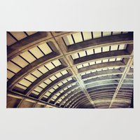 washington dc Area & Throw Rugs featuring Petworth Metro (Washington, DC) by Carsick T-Rex