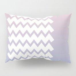 Chevron on Rose Quartz and Serenity Gradient Pillow Sham