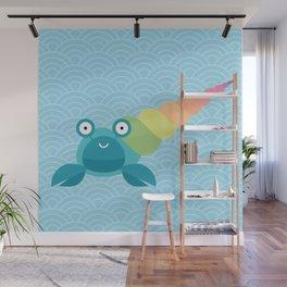 Rainbow hermit crab Wall Mural