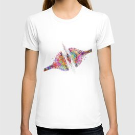Synapse Receptor Brain Nerve Cell Colorful Watercolor T-shirt