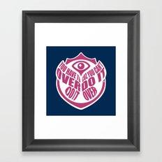 TomorrowWorld 2013 - Over Do It Framed Art Print