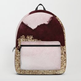 Red gold peaks ink Backpack