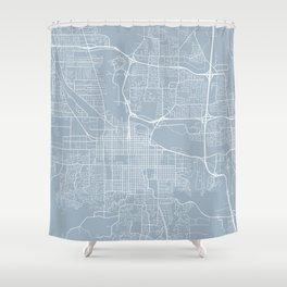 Eugene Map, USA - Slate Shower Curtain