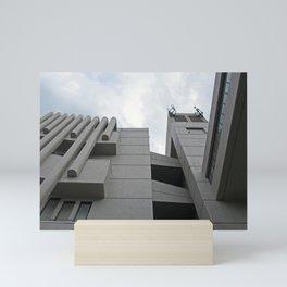 brutalist walkway - roger stevens building - leeds Mini Art Print